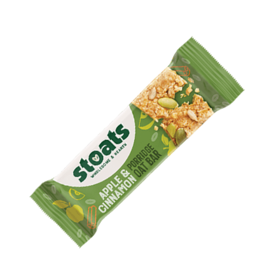 Apple & Cinnamon Stoats Porridge Bars (50g)