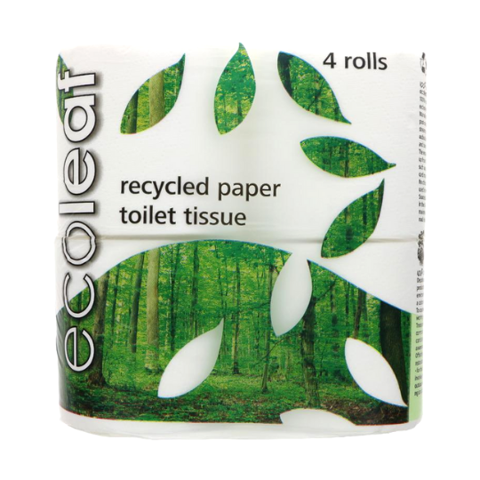 Ecoleaf Toilet Tissue - 4 pack (Compostable Packaging)
