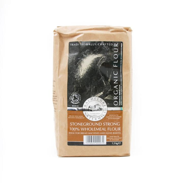 Bacheldre Stoneground Strong Wholemeal Flour (1.5kg), Organic