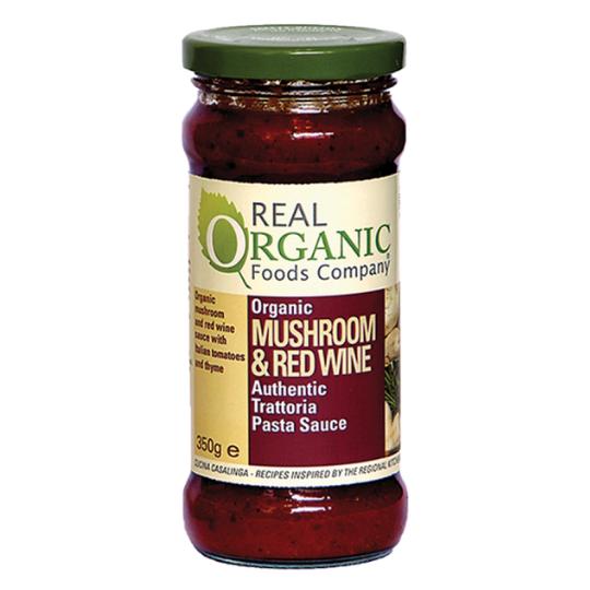 Mushroom & Red Wine Pasta Sauce (350g), Organic