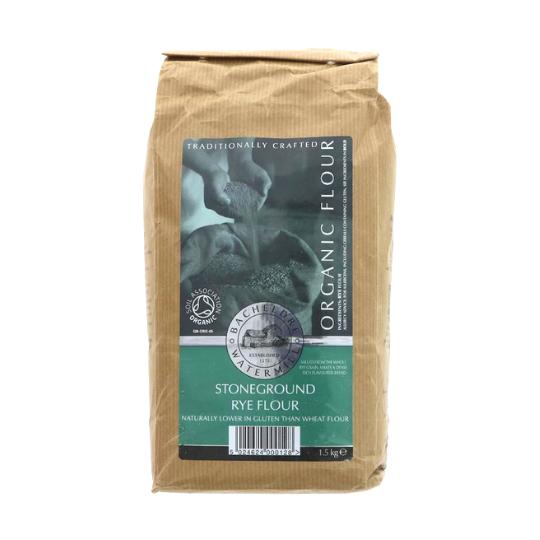 Bacheldre Stoneground Rye Flour (1.5kg), Organic