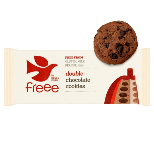 Double Chocolate Cookies Gluten Free, Organic Doves Farm