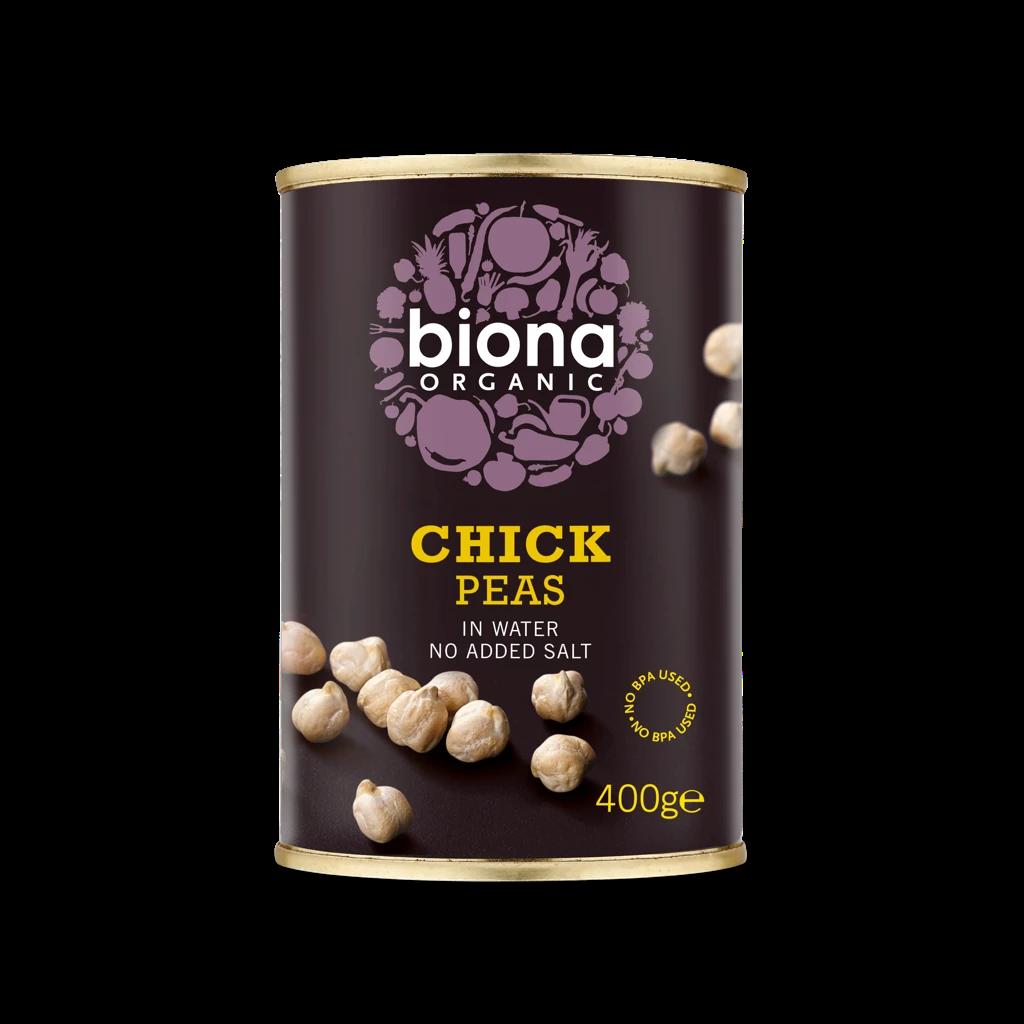 Biona Chickpeas - Tinned, Organic (400g)