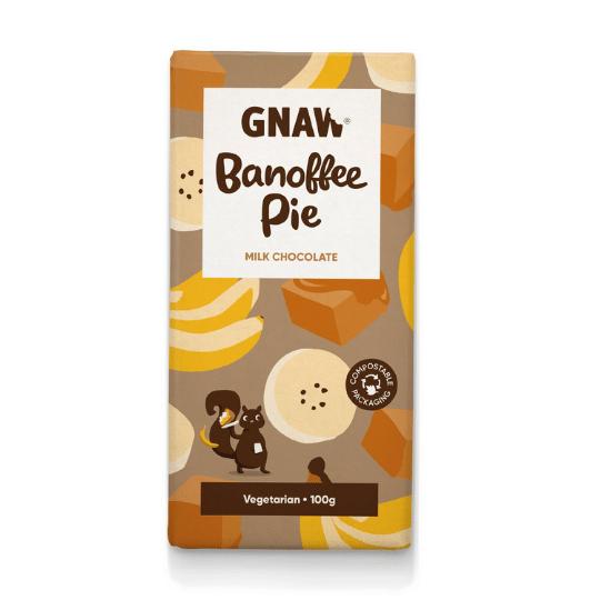 Banoffee Pie Milk Chocolate Bar, Gnaw