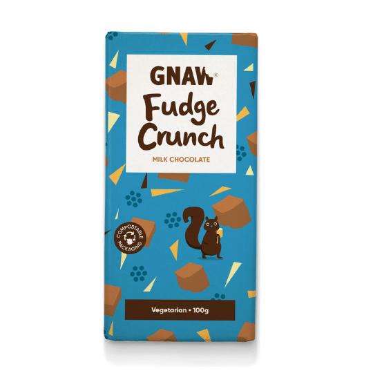 Fudge Crunch Milk Chocolate Bar, Gnaw
