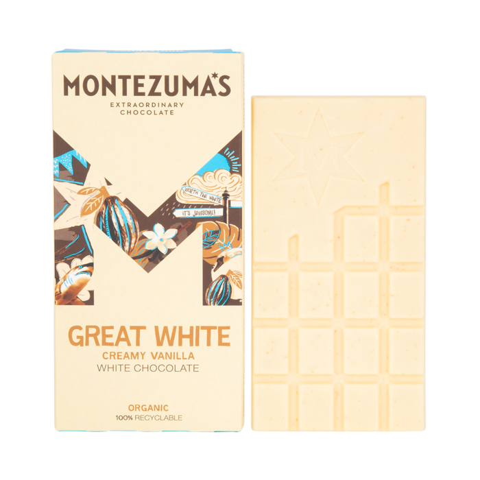 Montezuma's Great White, Creamy White Chocolate Bar