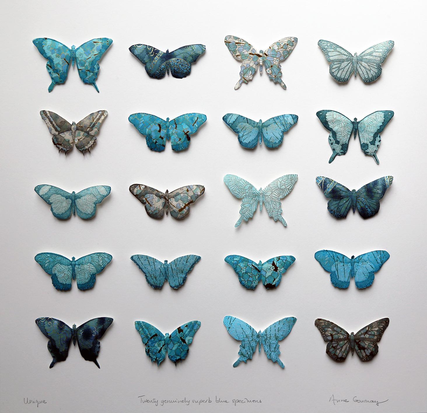 Twenty genuinely superb blue specimens III FRAMED