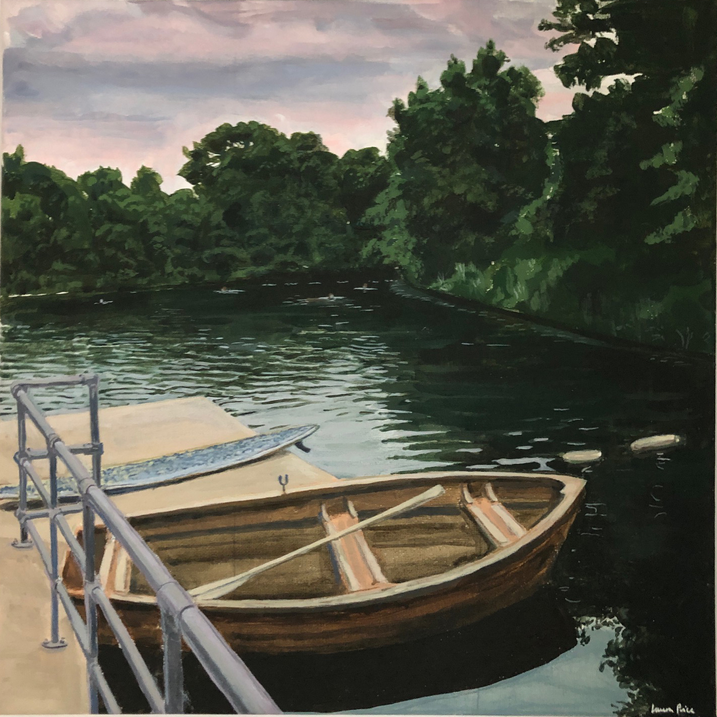 Women's Pond with Boat