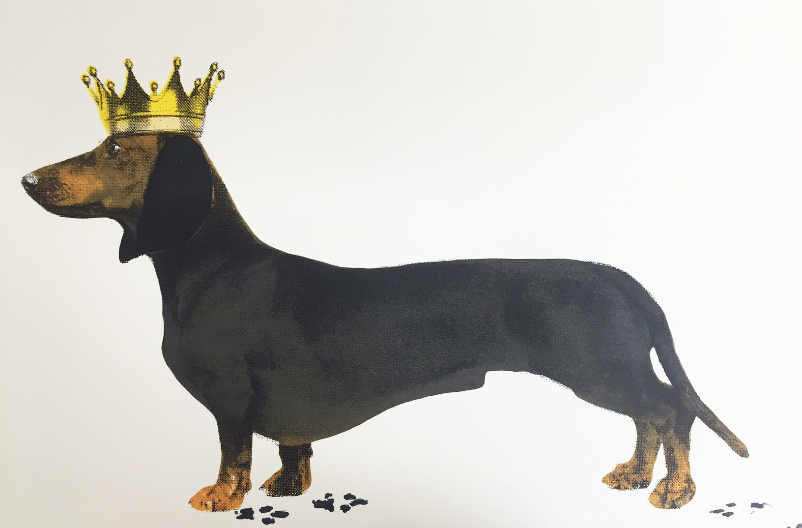 Royal Sausage, black and tan