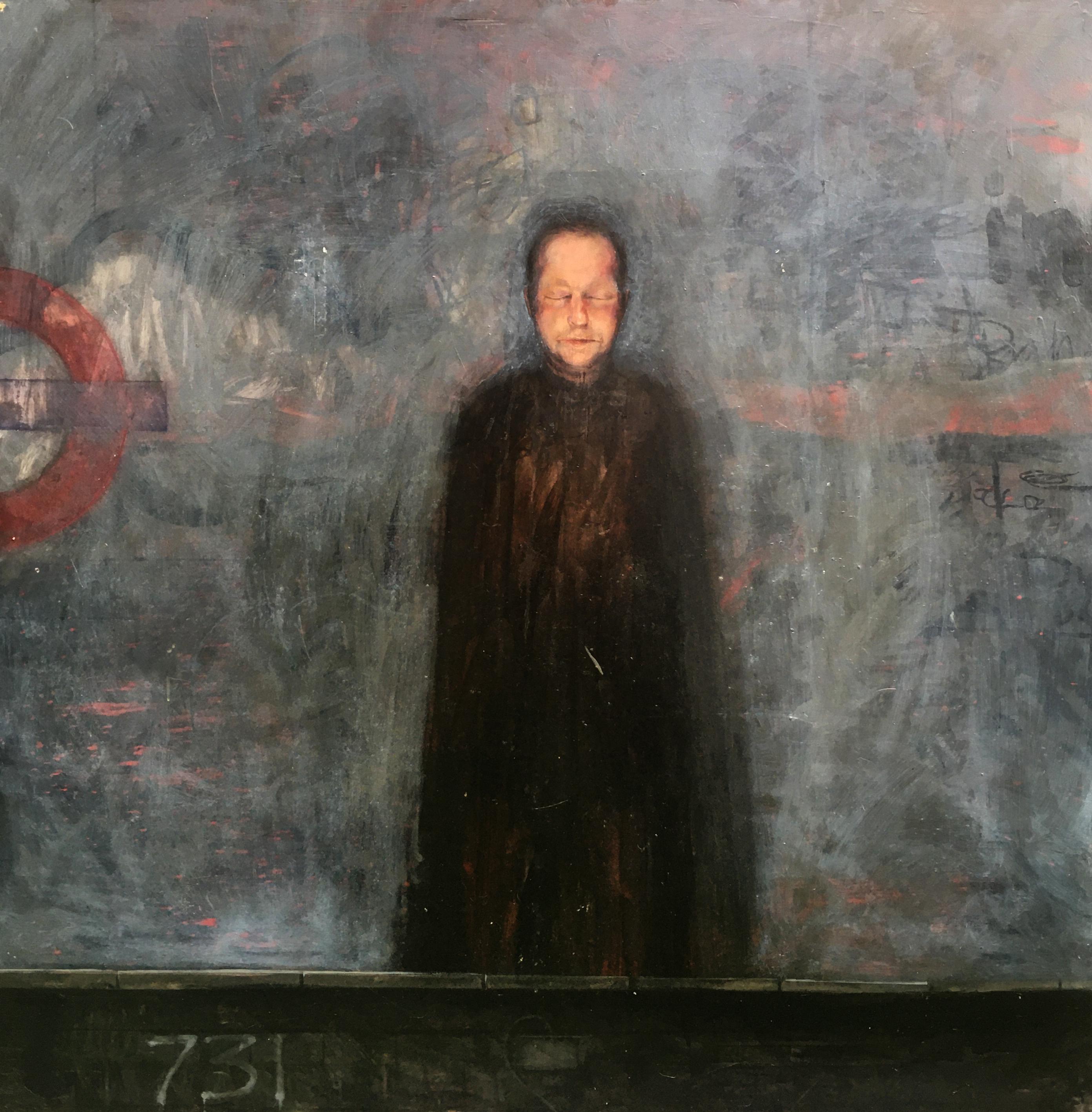 Man Standing on London Underground Platform