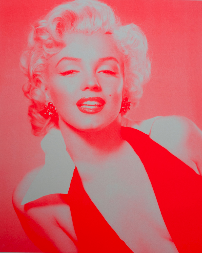 Marilyn Monroe Neon Red and Candy Floss Pink