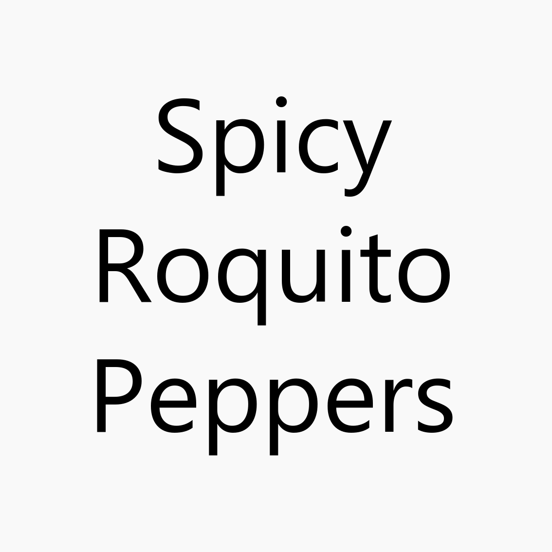 Spicy Roquito Peppers