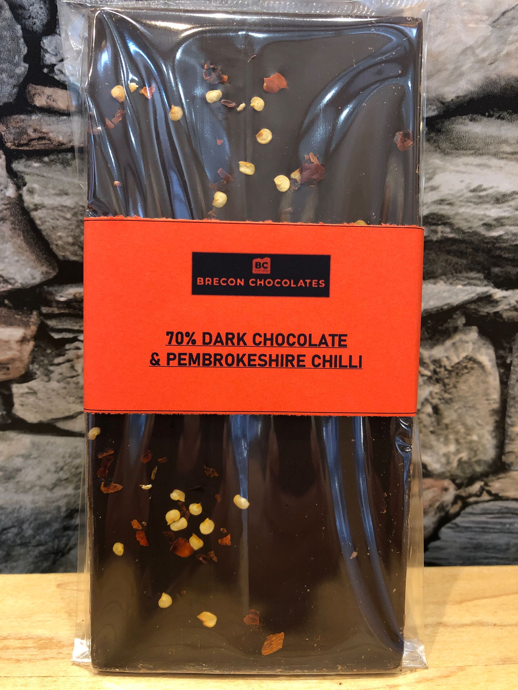 70% Dark Chocolate and Pembrokeshire Chilli