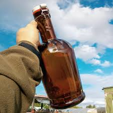 Glass growler (2 litres) (R)