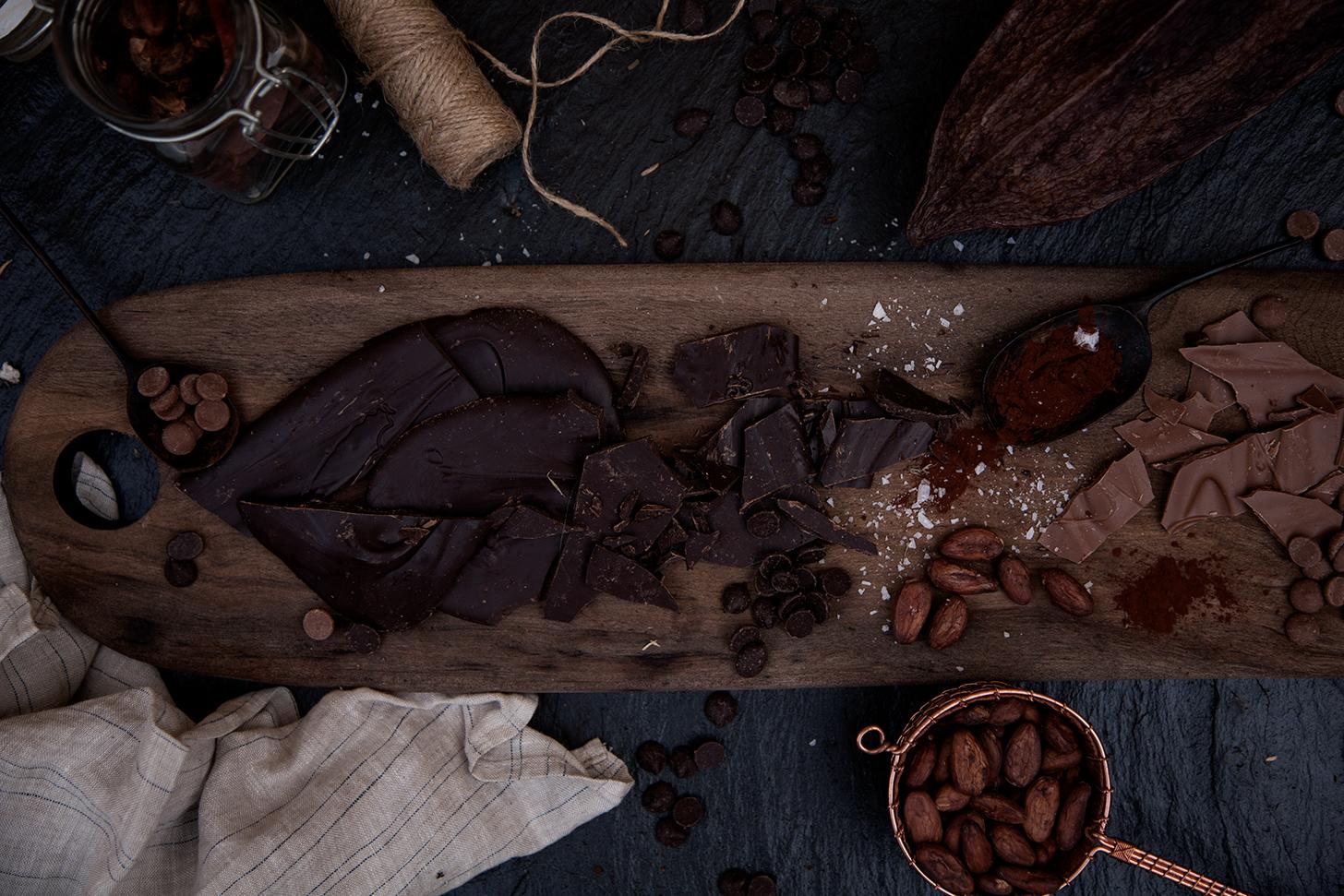 Mörk chokladbräck