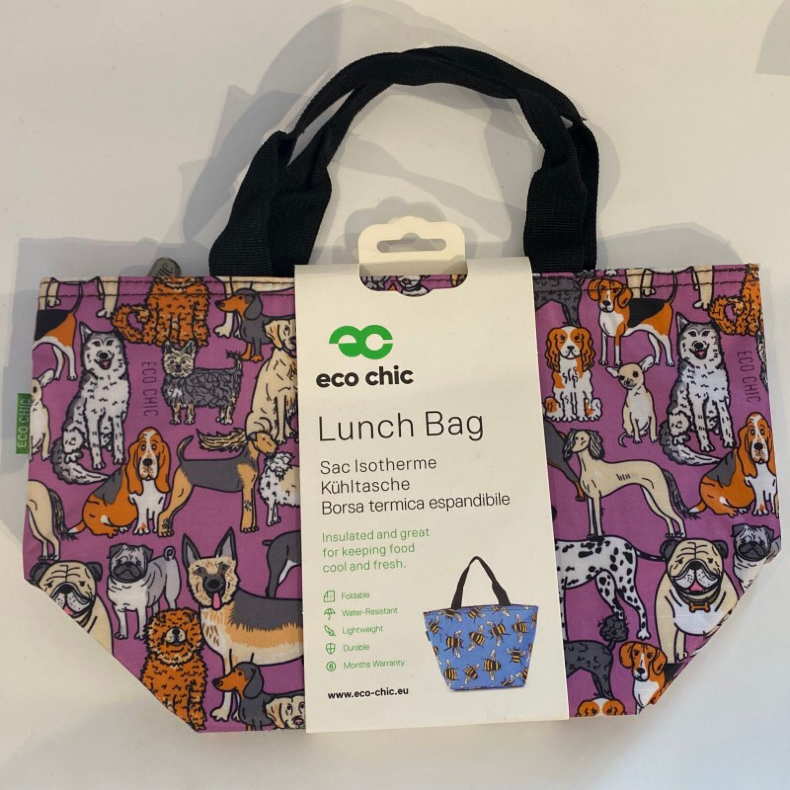 Purple Dogs Lunch Bag