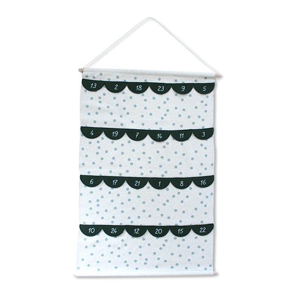 Adventskalender-Wandbehang aus 100% Bio-Baumwolle (GOTS)