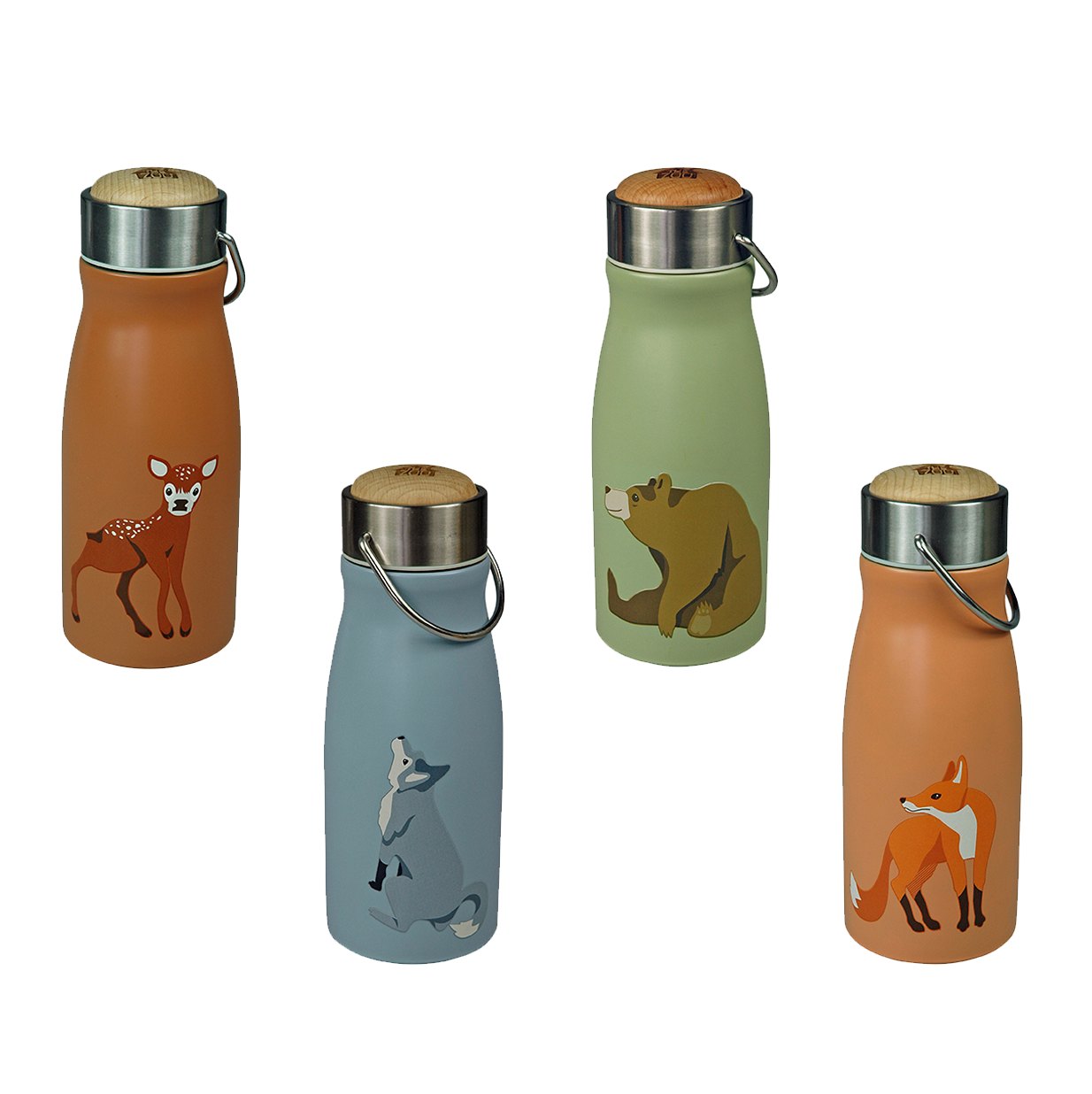 Thermoflasche aus Edelstahl – Wald, the Zoo