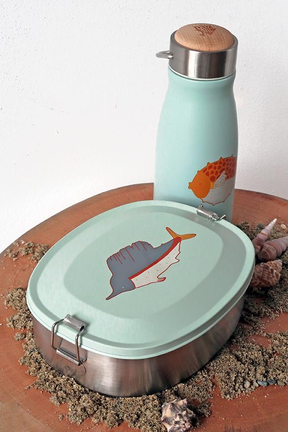 Edelstahl-Brotdose, Meeresmotive, theZoo