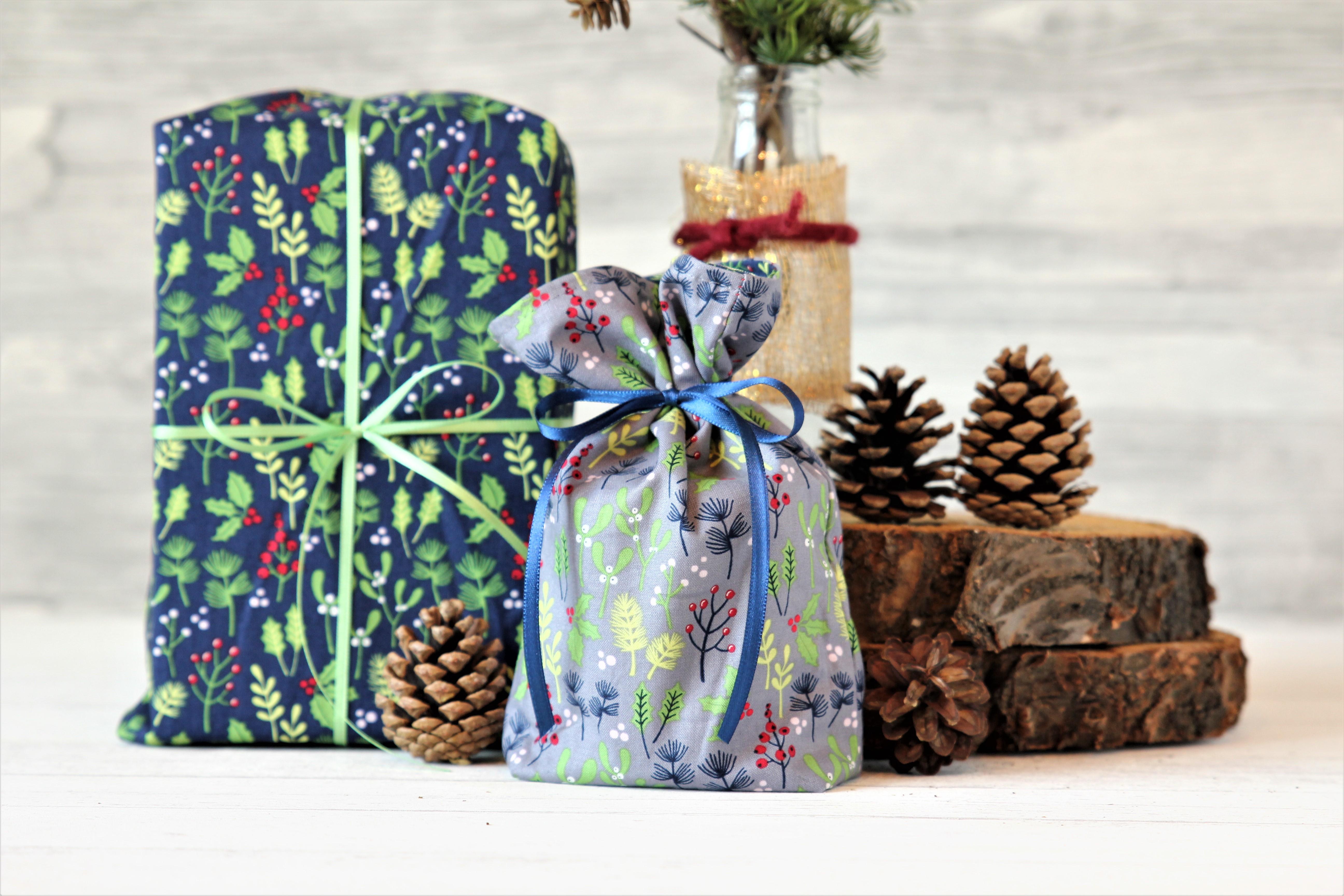Geschenkbeutel Weihnachtsmotive, wendbar, von Beutelwerk