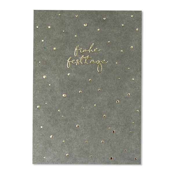 Postkarten Weihnachten mit Goldfolie NEU, ava&yves