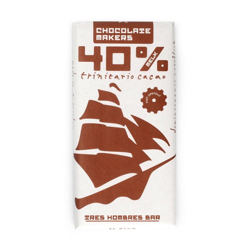 Bio-Schokolade 40%, mit Milch, Tres Hombres