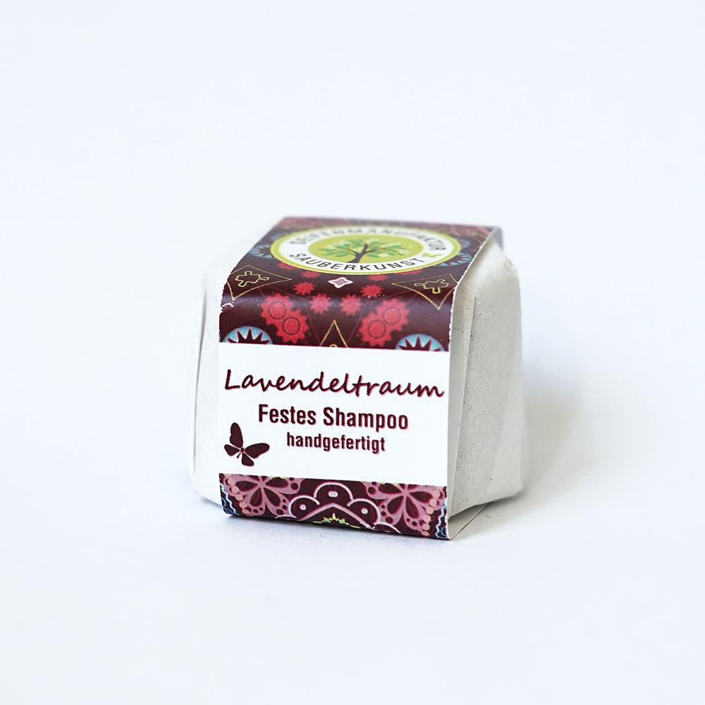 festes Haarshampoo, Lavendeltraum, Sauberkunst