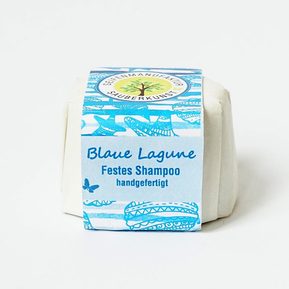 Blaue Lagune, festes Haarshampoo, Sauberkunst