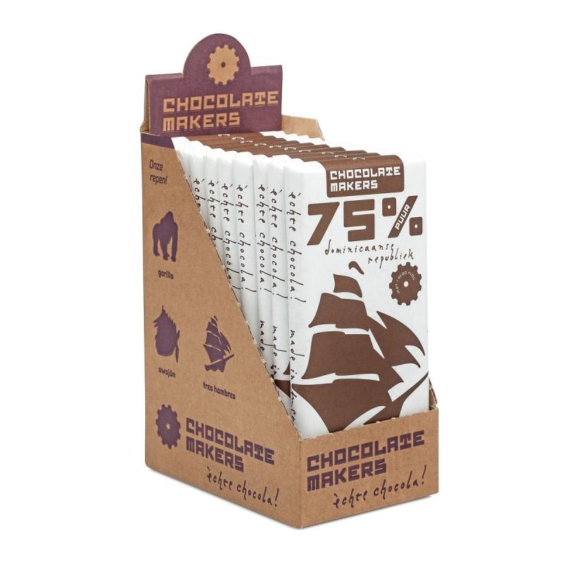 Bio-Schokolade 75 %, vegan, Tres Hombres