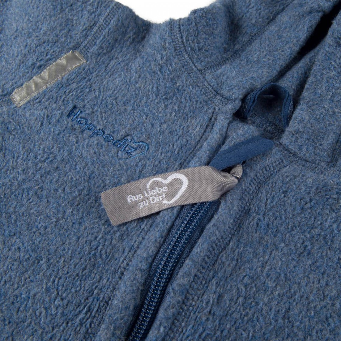 Overall aus Biobaumwoll-Fleece, Blau, Hoppediz