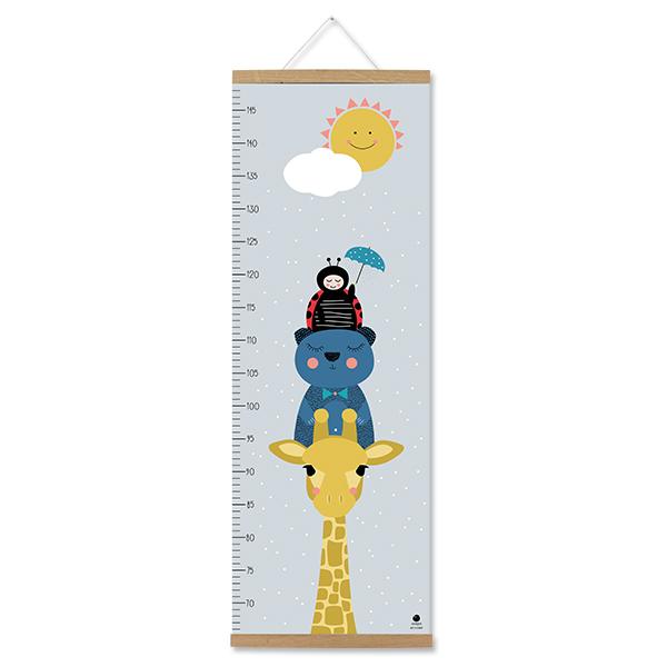 Messlatte Giraffe, aus Recyclingpapier, ava&yves