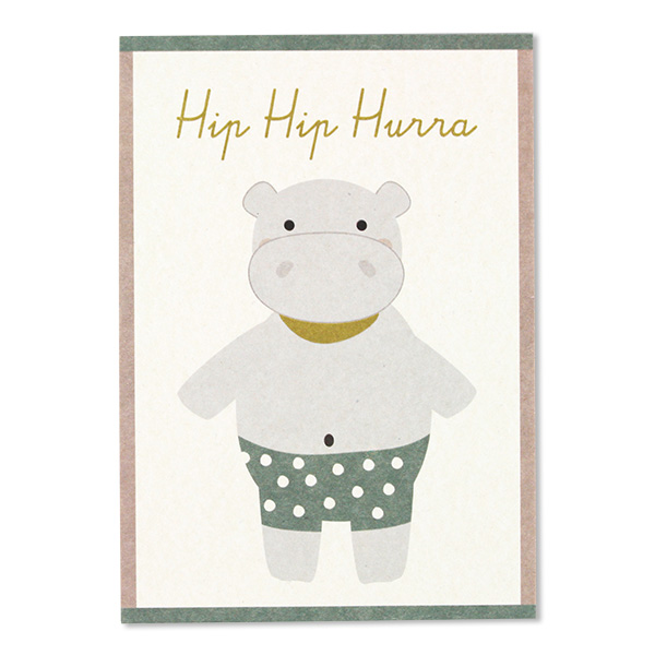 Postkarten zur Geburt, Recyclingpapier, Ava & Yves