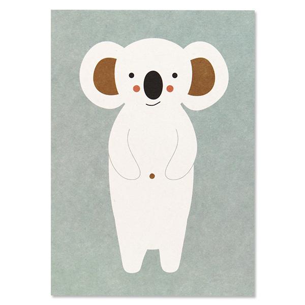 Postkarte Panda oder Koala, ohne Text, Recyclingpappe, Ava & Yves