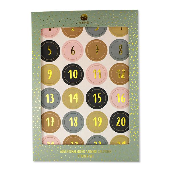 Adventskalender-Sticker, Ava & Yves