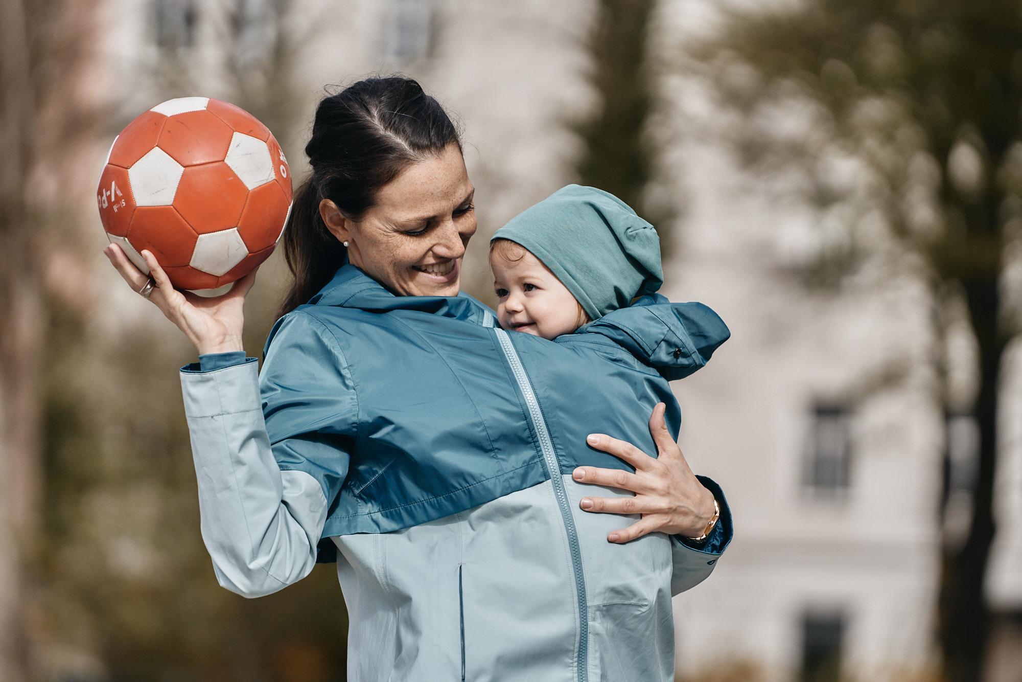 Regentragejacke zum Babytragen, Bio