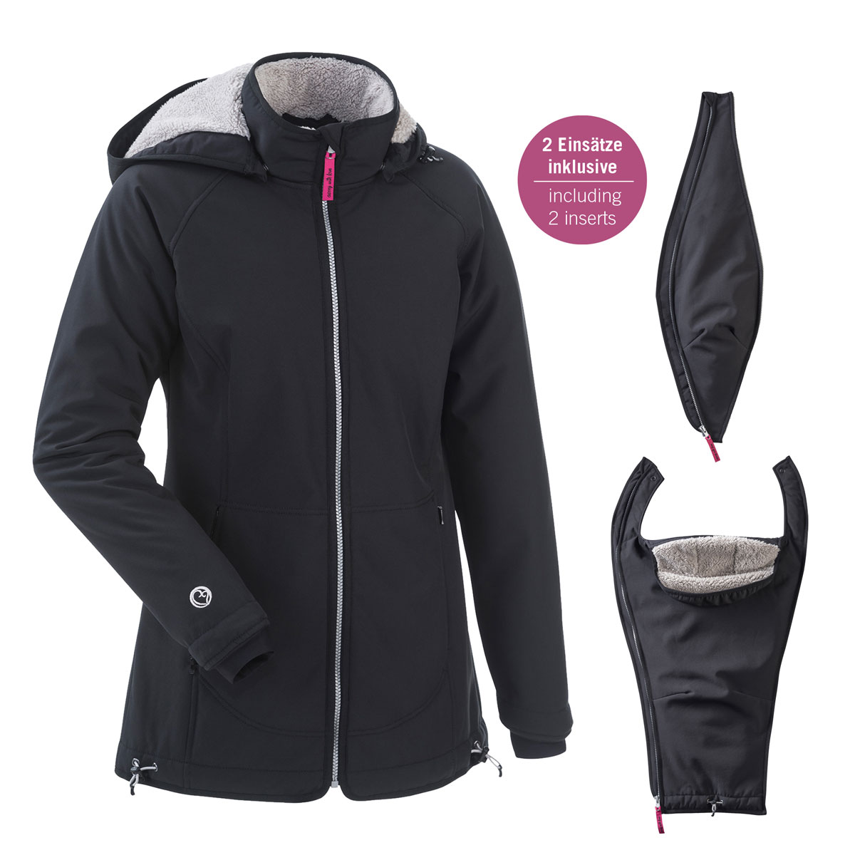 Allwetter-Tragejacke Cosy Winter, Teddy-Fleece, mamalila