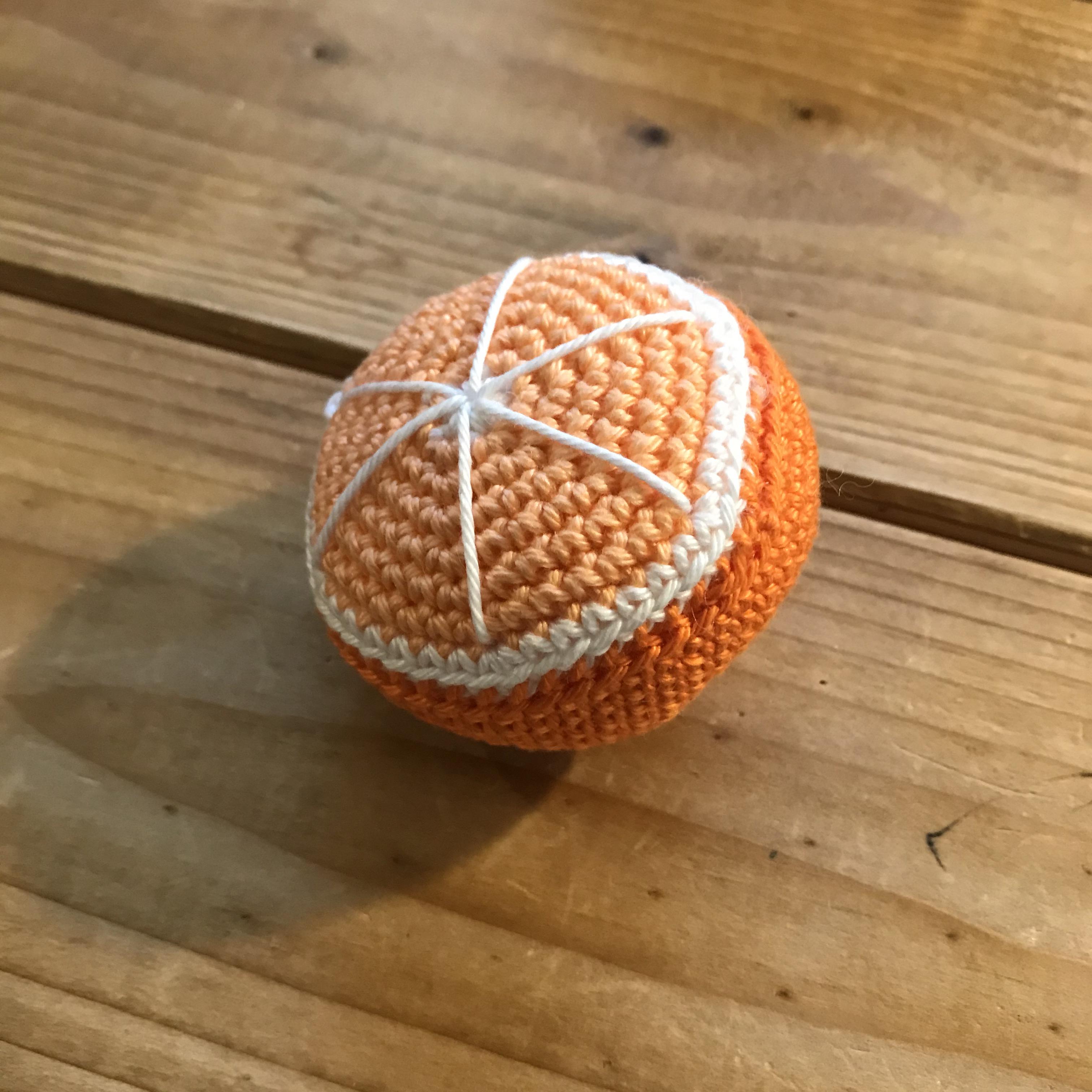 Häkelobst für Puppenküche, (Zitronen, Pflaumen, Orangen)