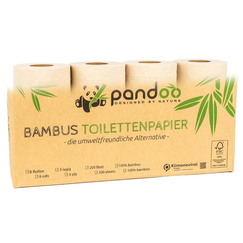 Bambus Toilettenpapier 3-lagig | 8 Rollen á 200 Blatt