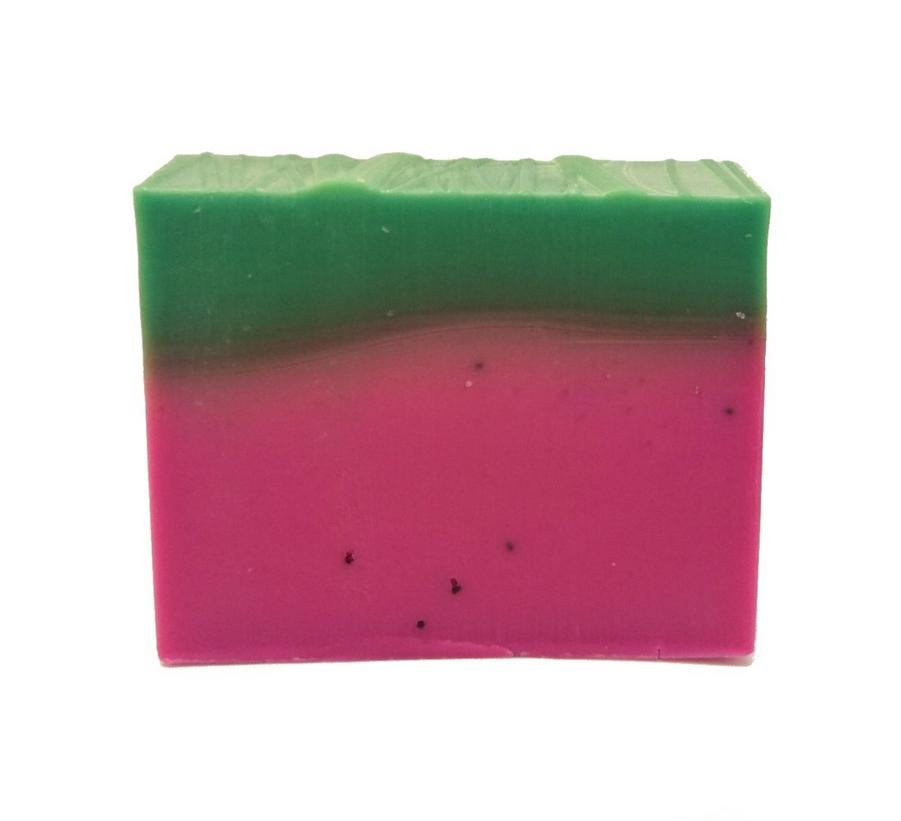 Wassermelone, vegane Körperseife, Sauberkunst