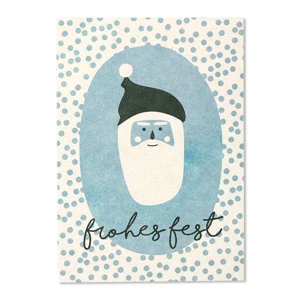 Postkarten Weihnachten, Recyclingschliffpappe, Ava & Yves