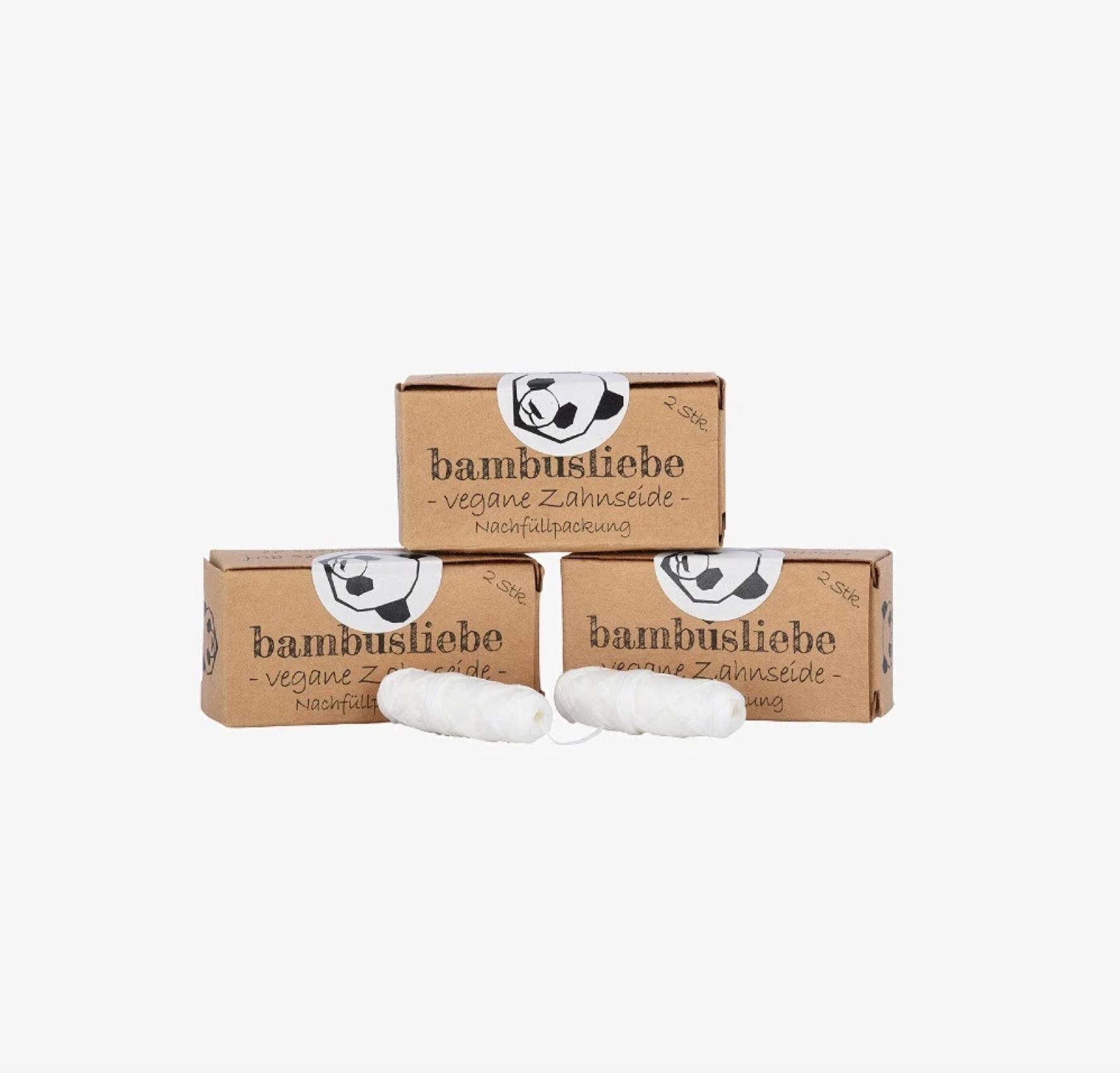 Zahnseide Nachfüllpack, vegan, Bambusliebe