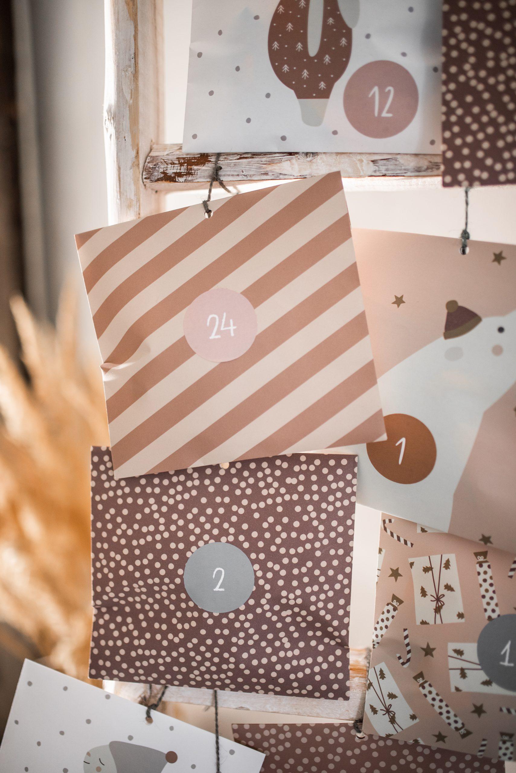 Adventskalender-Papiertüten(auch zum Verschenken), Recyclingpapier, Ava & Yves