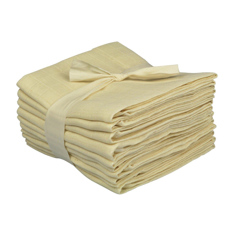 Windeln/Spucktuch aus Musselin, 3er- oder 10er-Pack rohweiß, 80x80 cm