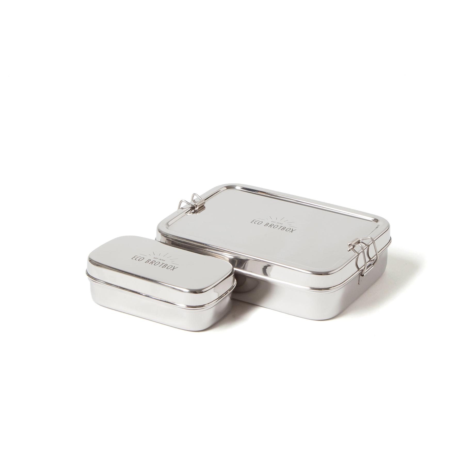 Brotbox Xl inkl. Snackbox XL, aus Edelstahl, EcoBrotbox