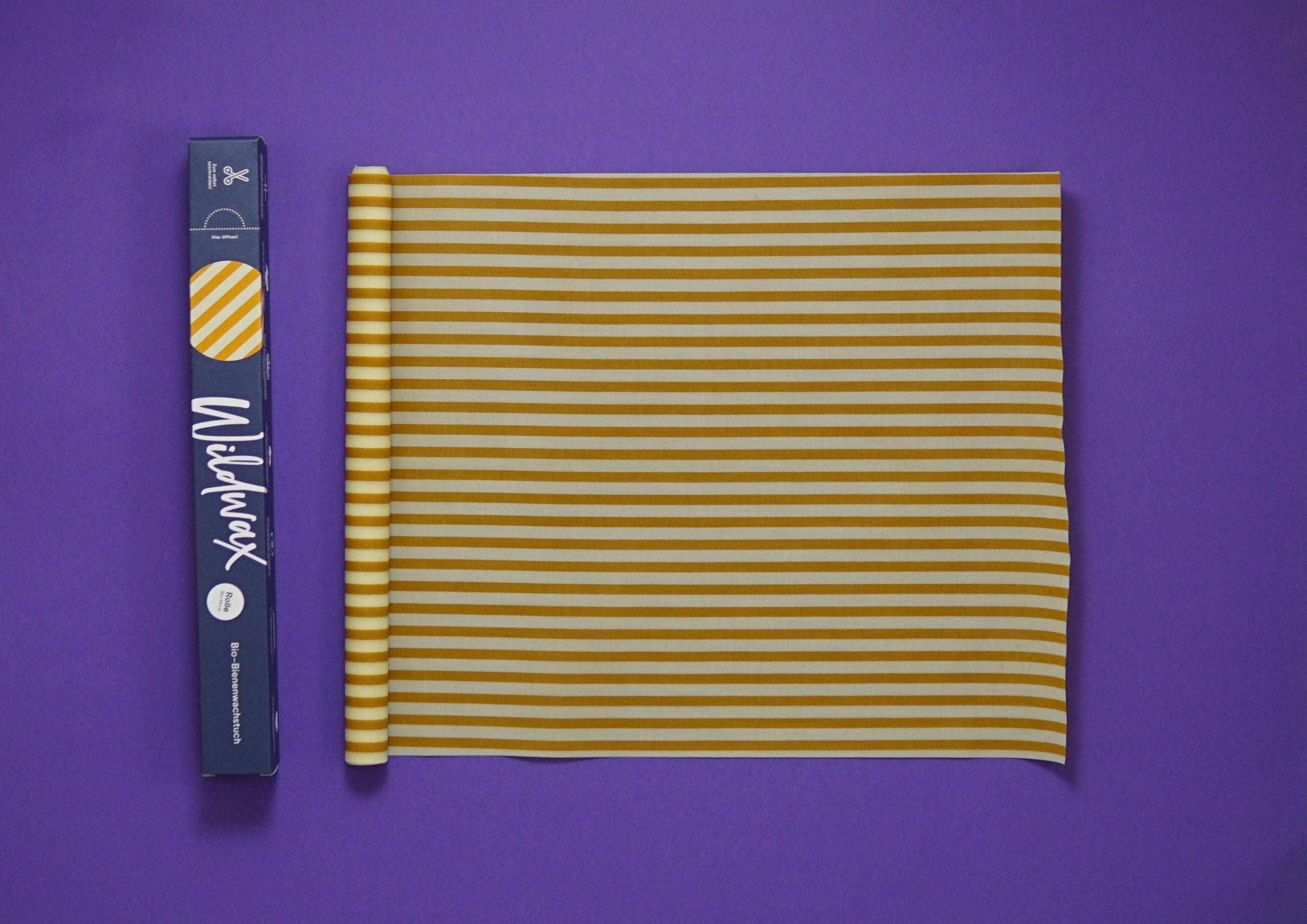 Wildwax Rolle 30x90 cm, Bienenwachstücher, versch. Designs
