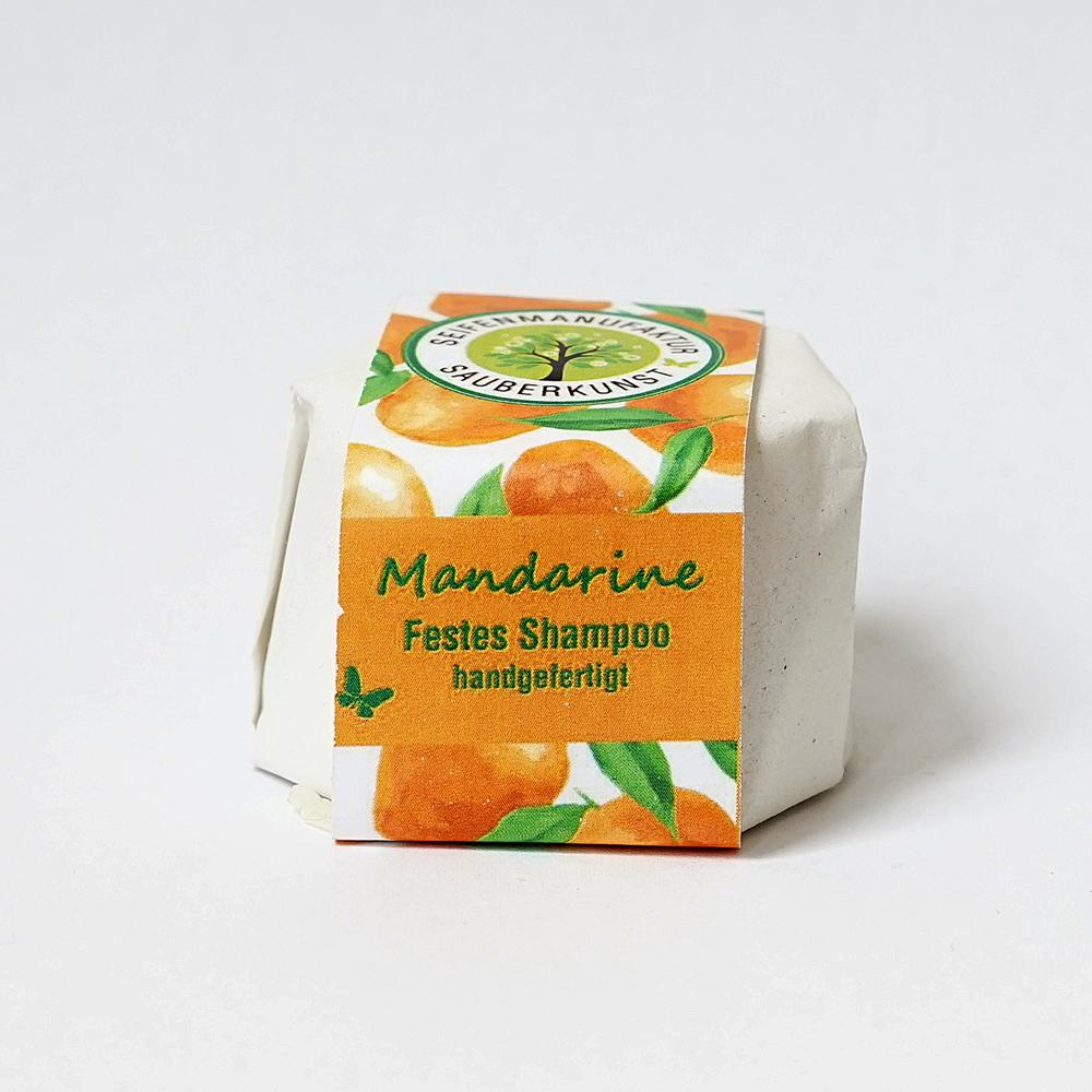 festes Haarshampoo, Mandarine, Sauberkunst