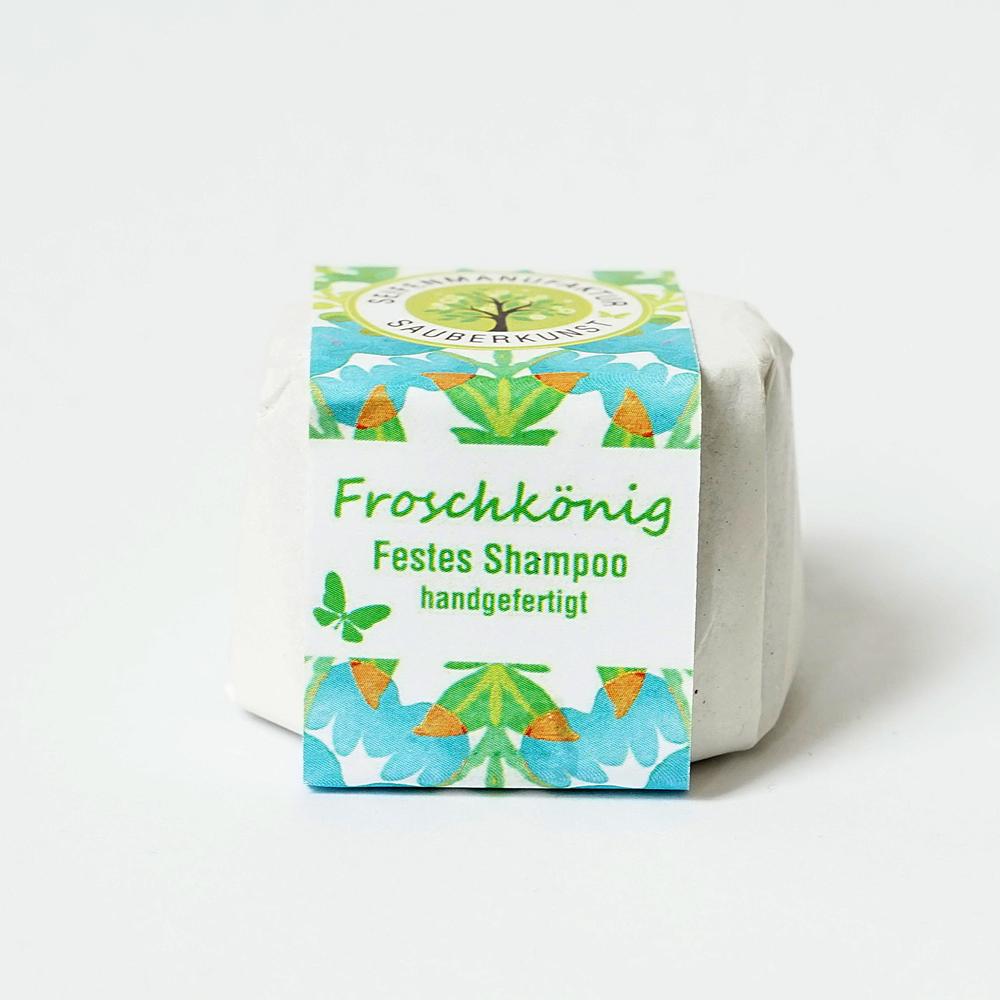 Froschkönig, festes Haarshampoo, Sauberkunst