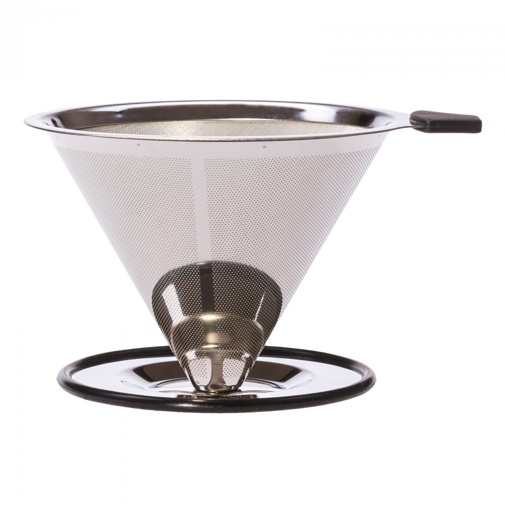 Edelstahlfilter für Kaffee, Aufsatz auf Tasse