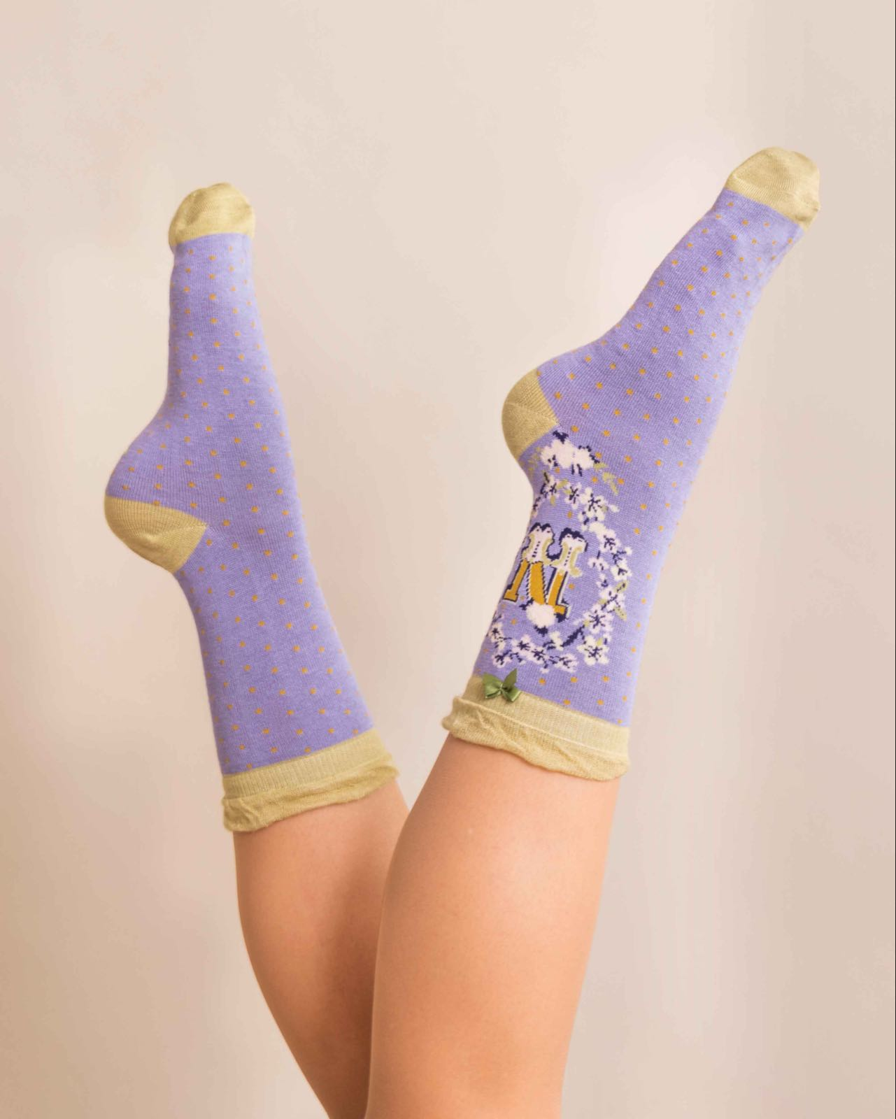 Powder Alphabet socks N (product may differ from item shown in the photo)