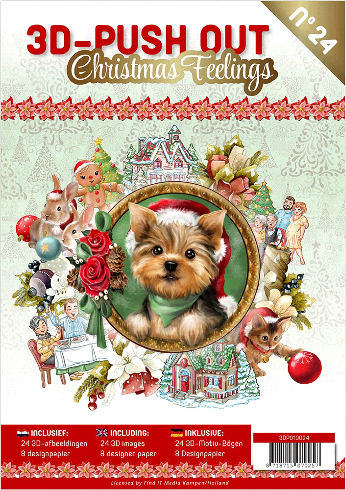 3D-push out bok christmas feelings 24 3D motiver
